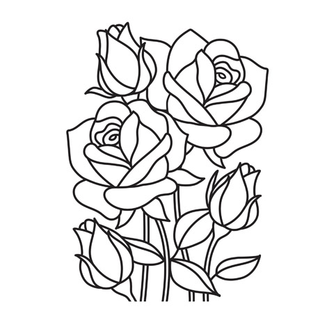 Embossing Folder Mosiac Rose 4.25X5.75 By Darice