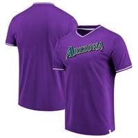 Arizona Diamondbacks Fanatics Branded True Classics V-Neck T-Shirt - Purple/White