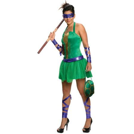 Womens Teenage Mutant Ninja Turtles Donatello Dress Costume - Ninja Turtle Womens Costume