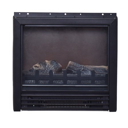 Gymax Fireplace TV Stand Wood Storage Media TV Console ...