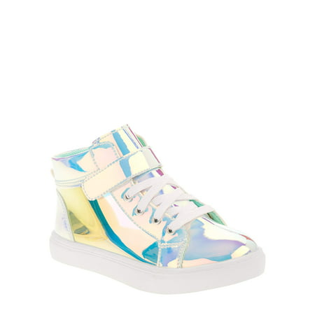 Wonder Nation Girls' Athletic Holographic High Top (Best Shoes For Kids With Sensory Issues)