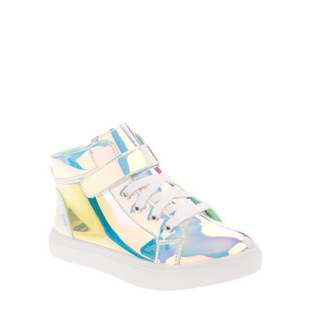 Wonder Nation Girls' Athletic Holographic High Top Sneaker ()
