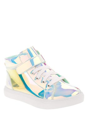 Wonder Nation Athletic Iridescent High-Top Sneaker (Little Girls & Big Girls)