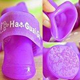 4Pcs Waterproof Dog Anti-Slip Fashion Rubber Boots Pet Rain Shoes Booties