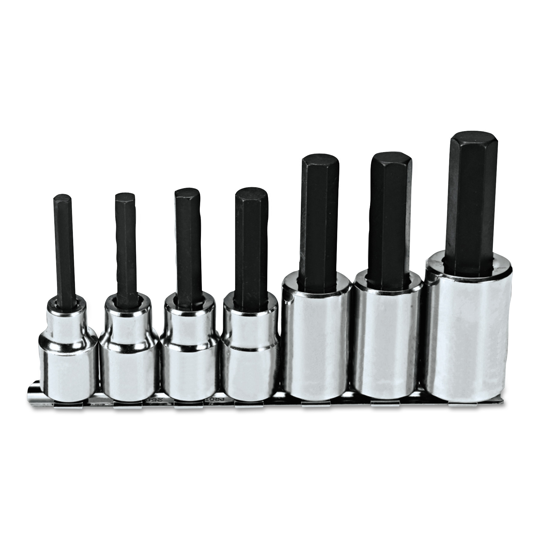 Proto 7 Pc. Hex Bit Socket Sets, 1/2 in Drive