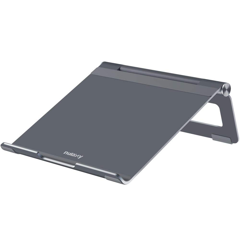 Nulaxy Adjustable Multi Angle Foldable Aluminum Laptop Stand For