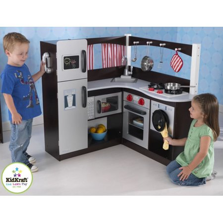 kidkraft grand espresso corner kitchen. Black Bedroom Furniture Sets. Home Design Ideas