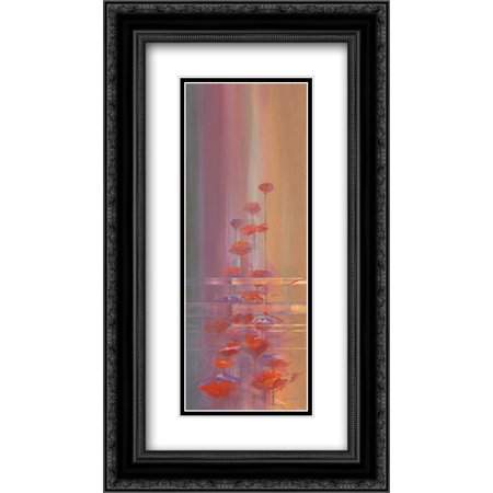 Faded Memories I 2x Matted 14x24 Black Ornate Framed Art Print by Bate, John ()