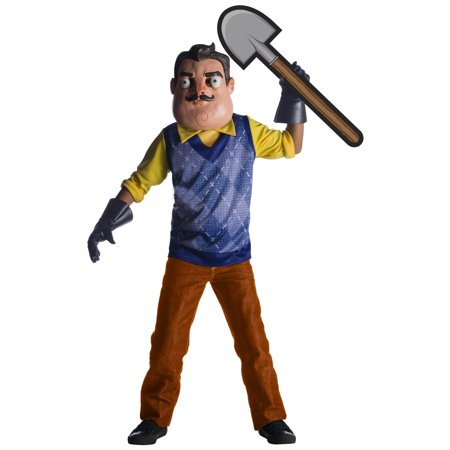 Hello Neighbor Boys The Neighbor Deluxe Halloween Costume (Boys In Halloween Costumes)