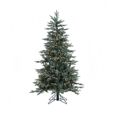 Vickerman 5' Crystal Frosted Balsam Fir Artificial Christmas Tree with 300  Clear Lights - Vickerman 5' Crystal Frosted Balsam Fir Artificial Christmas Tree