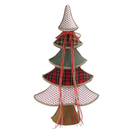 Northlight Holiday Moments Red Green and White Whimsical Tabletop Christmas Tree - Whimsical Trees
