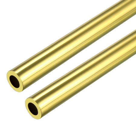 2 PCS 4mm x 6mm x 500mm Brass Pipe Tube Round Bar Rod for RC Boat
