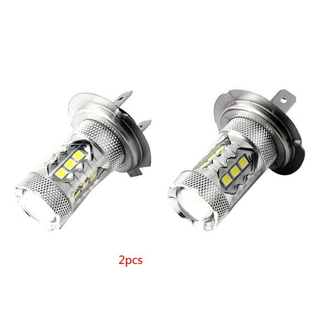 1Pair 80W LED Ice Blue Super Bright H7 8000K 2828 LED Bulb Compatible for Low Beam Headlight DRL - image 1 of 7