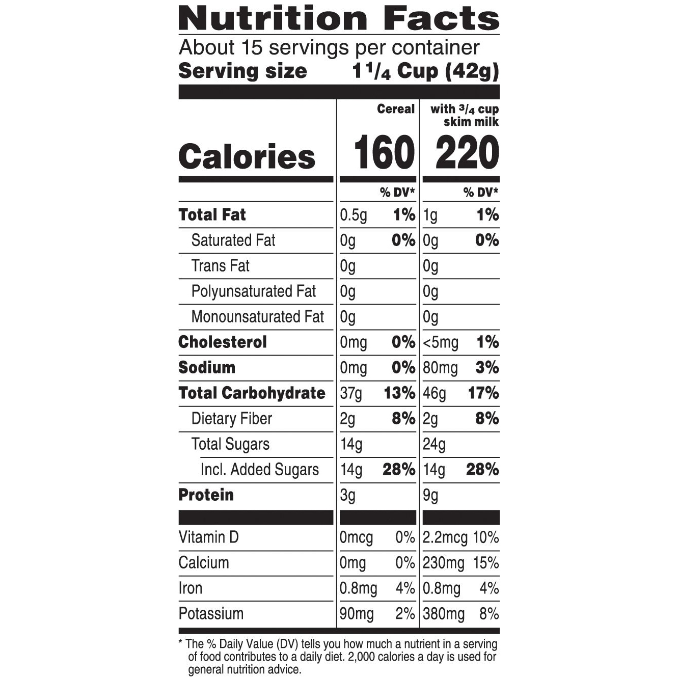 Family Size Breakfast Cereal 23oz Box