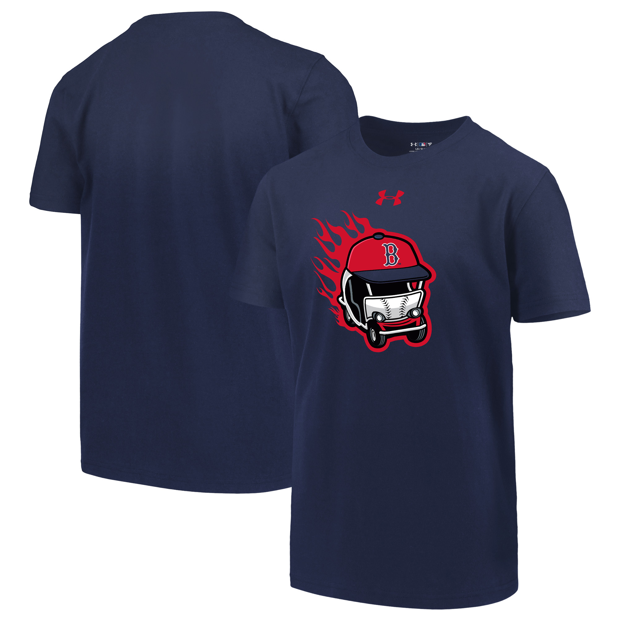 Boston Red Sox Under Armour Youth Wild Thing Performance T-Shirt - Navy