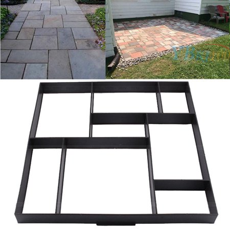 Personalized Stone Paving Mold 8 Grid Brick Stone Mold Stepping Stone Paver Walkway Reusable Concrete Cement Stone Design Paver for Lawn Garden and Patio ()