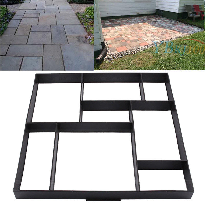 Personalized Stone Paving Mold 8 Grid Brick Stone Mold Stepping Stone Paver Walkway Reusable Concrete Cement Stone Design Paver for Lawn Garden and Patio
