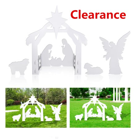 The final ClearanceOutdoor Nativity Set Garden Nativity Scene Yard Sign for Christmas