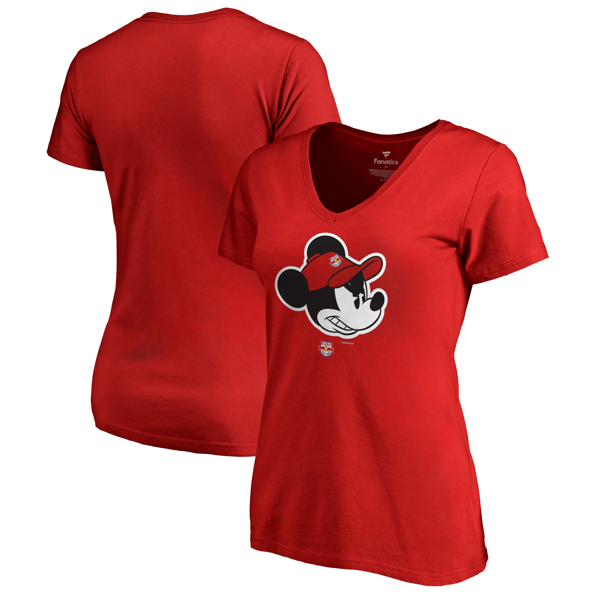 New York Red Bulls Fanatics Branded Women's Disney Game Face V-Neck T-Shirt - Red