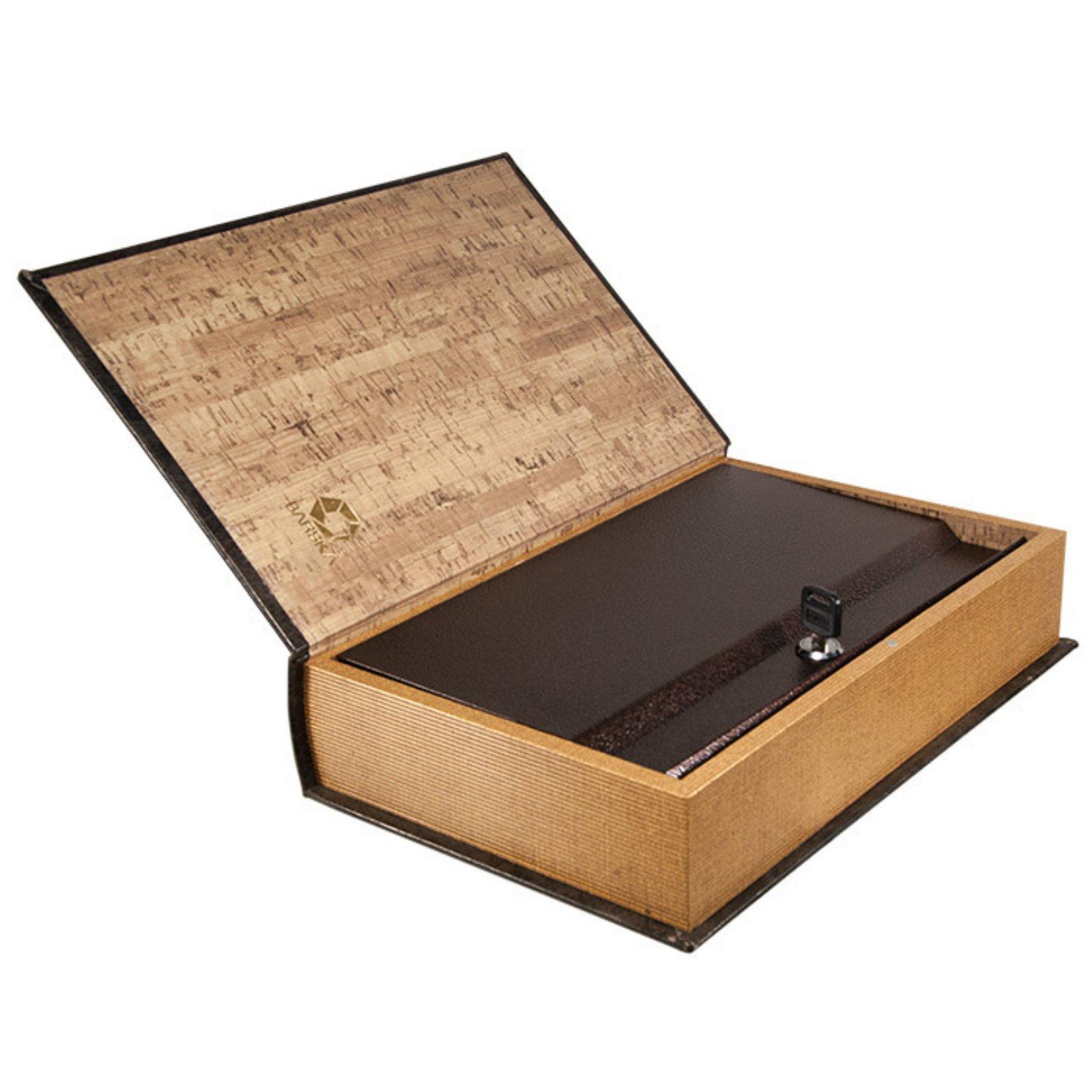 Barska Optics Book Safe with Key, Large Antique