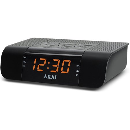 akai digital led display fm alarm clock radio w fast charging 2 4a usb port. Black Bedroom Furniture Sets. Home Design Ideas