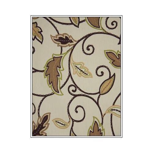 Boca Rattan Palm Spring Ottoman in Antique Black-Fabric:S...