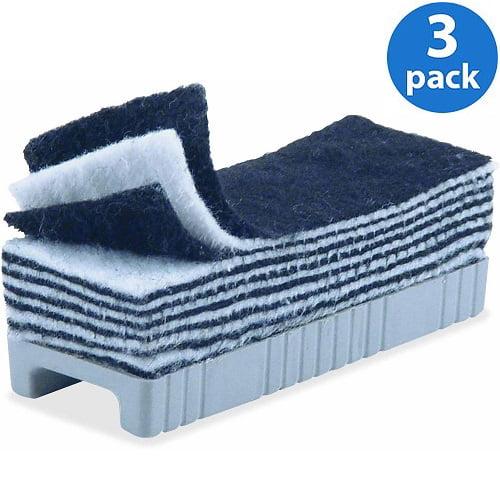 (3 Pack) CLI, LEO74515, Peel-away Felt Whiteboard Eraser, 1 Each, Black,White