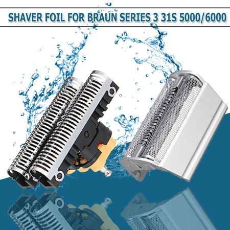 Shaver Foil + Cutter Blade For Braun 31S 31B 5000 6000 Series 3 350-390CC 5612 5770 6520 6550