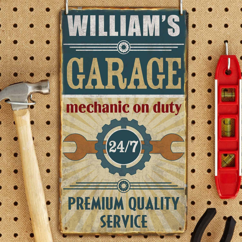 Personalized Garage Metal Sign