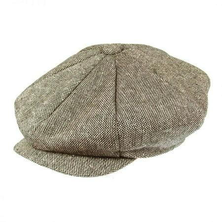 Marl Tweed Wool Blend Big Apple Cap - ONE SIZE FITS MOST - Brown