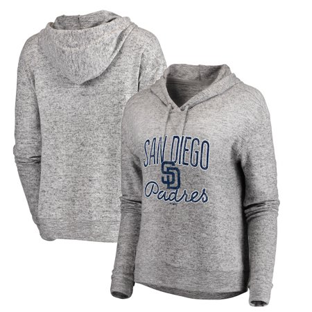 the best attitude aa588 2ffc7 San Diego Padres Let Loose by RNL Women's Cozy Collection Steadfast  Pullover Hoodie - Heathered Gray