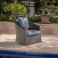 Red Barrel Studio Dierdre Outdoor Wicker Swivel Patio Chair with Cushions