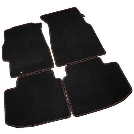 84 Honda Civic Carpet - Spec-D Tuning For 1996-2000 Honda Civic Black Floor Mat Carpets W/ Red Trim 1996 1997 1998 1999 2000 1996 1997 1998 1999 2000