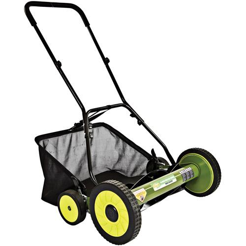 "Sun Joe Mow Joe 20"" Manual Reel Mower with Grass Catcher, Refurbished"