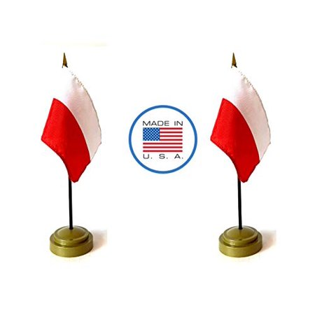 Made in The USA Flag Set. 2 Poland Rayon 4