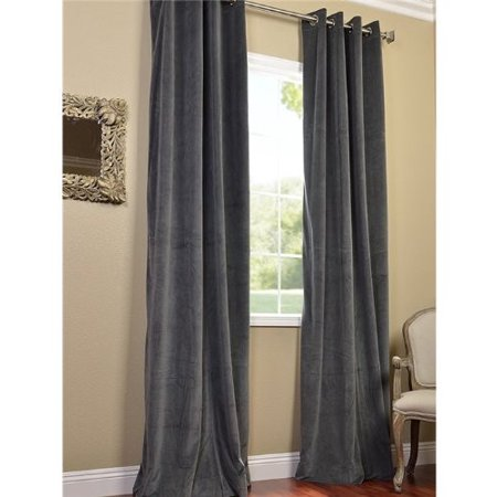 Signature Grommet Grey 96 Inch Blackout Curtain
