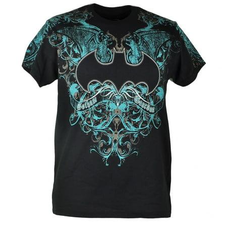 DC Comics Batman Dark Knight Gotham Guardian Distressed Black Tshirt Tee Small - Batman T Shirts