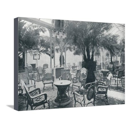 Brighton Garden ('Brighton Metropole's Palm Garden', 1912 Stretched Canvas Print Wall Art )