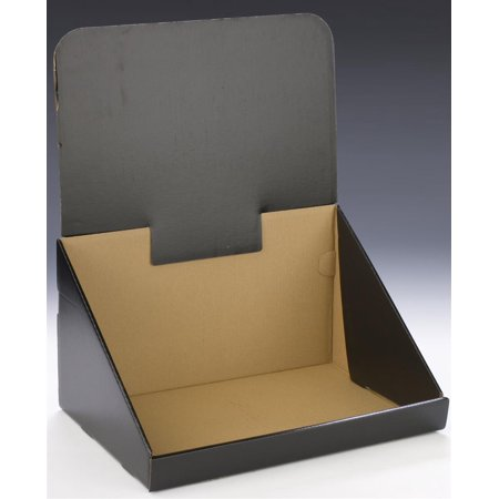 Displays2go  Counter-Top Display, Single Compartment Storage Bin for Tabletop Use, Corrugated Cardboard with Optional Header - Sold in Sets of - Corrugated Cardboard Displays