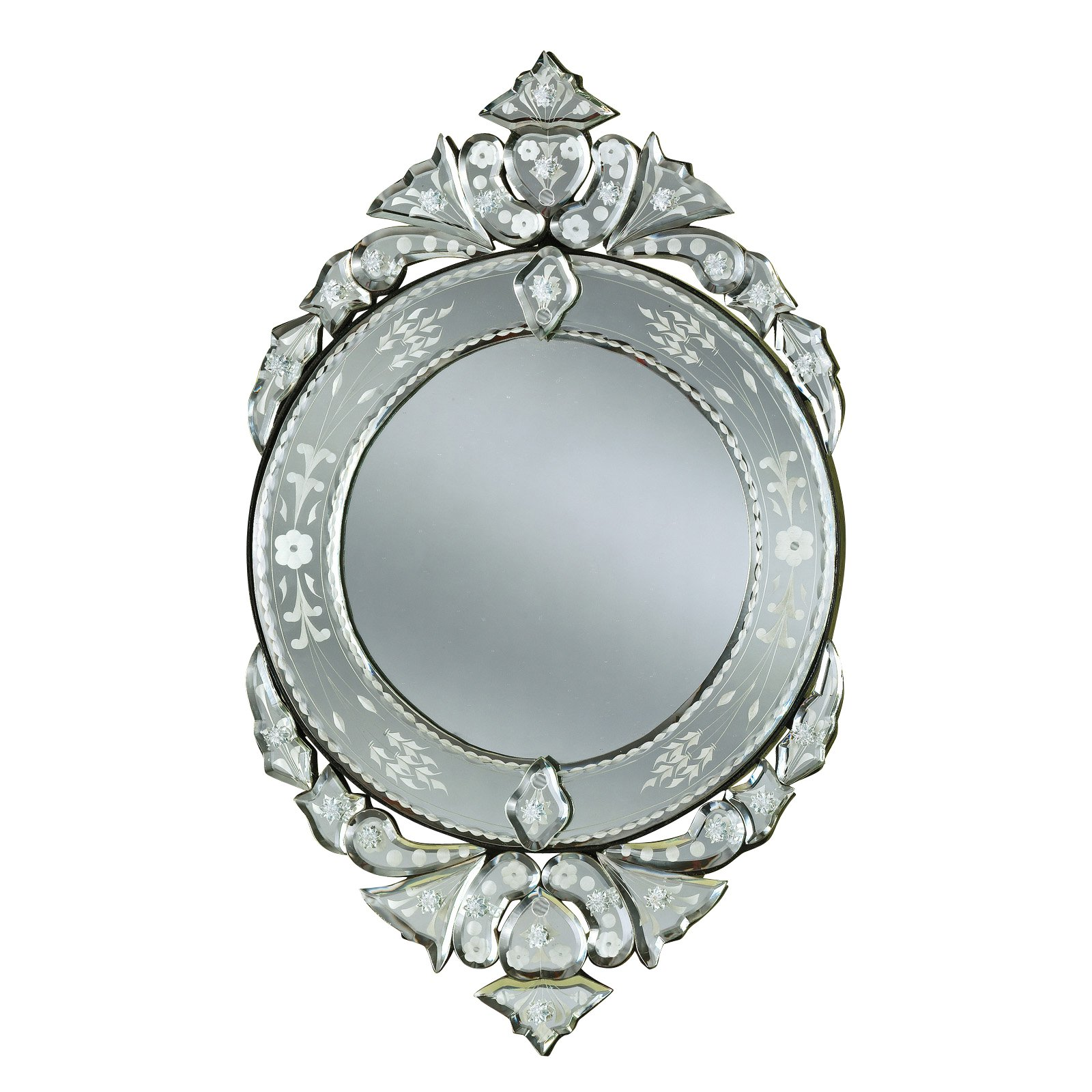 Mini Liro Venetian Arched Wall Mirror - 12W x 20H in.