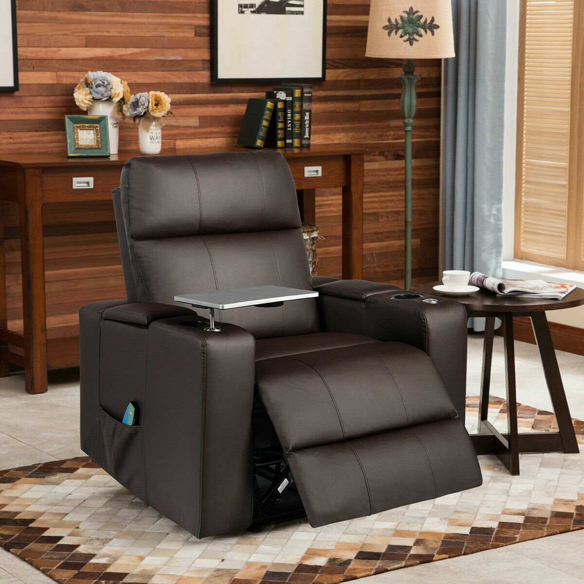 Gymax Massage Theater Recliner...