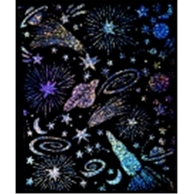 Scratch-Art Holographic Scratch And Sparkle Board, Pack - 30