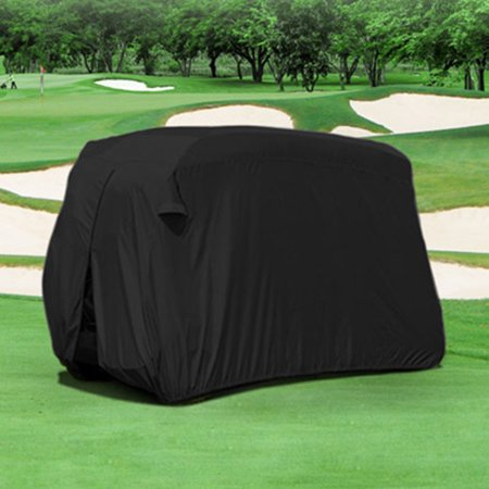 Durable Four Person Golf Cart Cover Black GCC-F22-B - Golf Cart Ideas