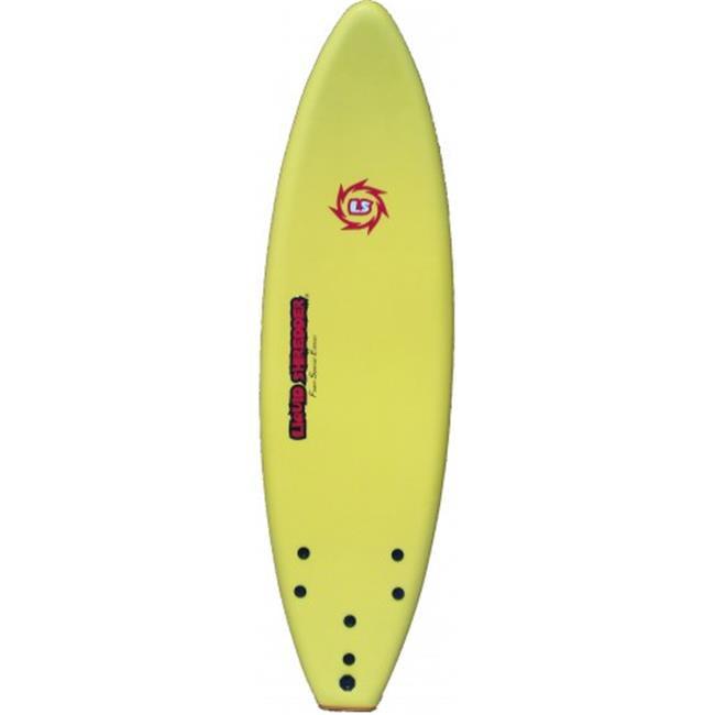 liquid shredder 6 ft. fse eps-pe soft surf board, yellow by Liquid Shredder