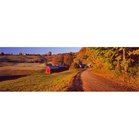 Panoramic Images PPI131014L Farmhouse beside a country road  Jenne Farm  Vermont  New England  USA Poster Print by Panoramic Images - 36 x