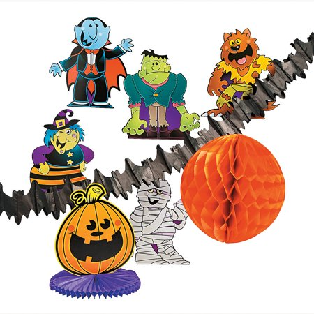 Fun Express - Boo Bunch Decor Kit(10pc) for Halloween - Party Decor - General Decor - Decorating Kits - Halloween - 10 Pieces (Boo Ball Halloween Party)