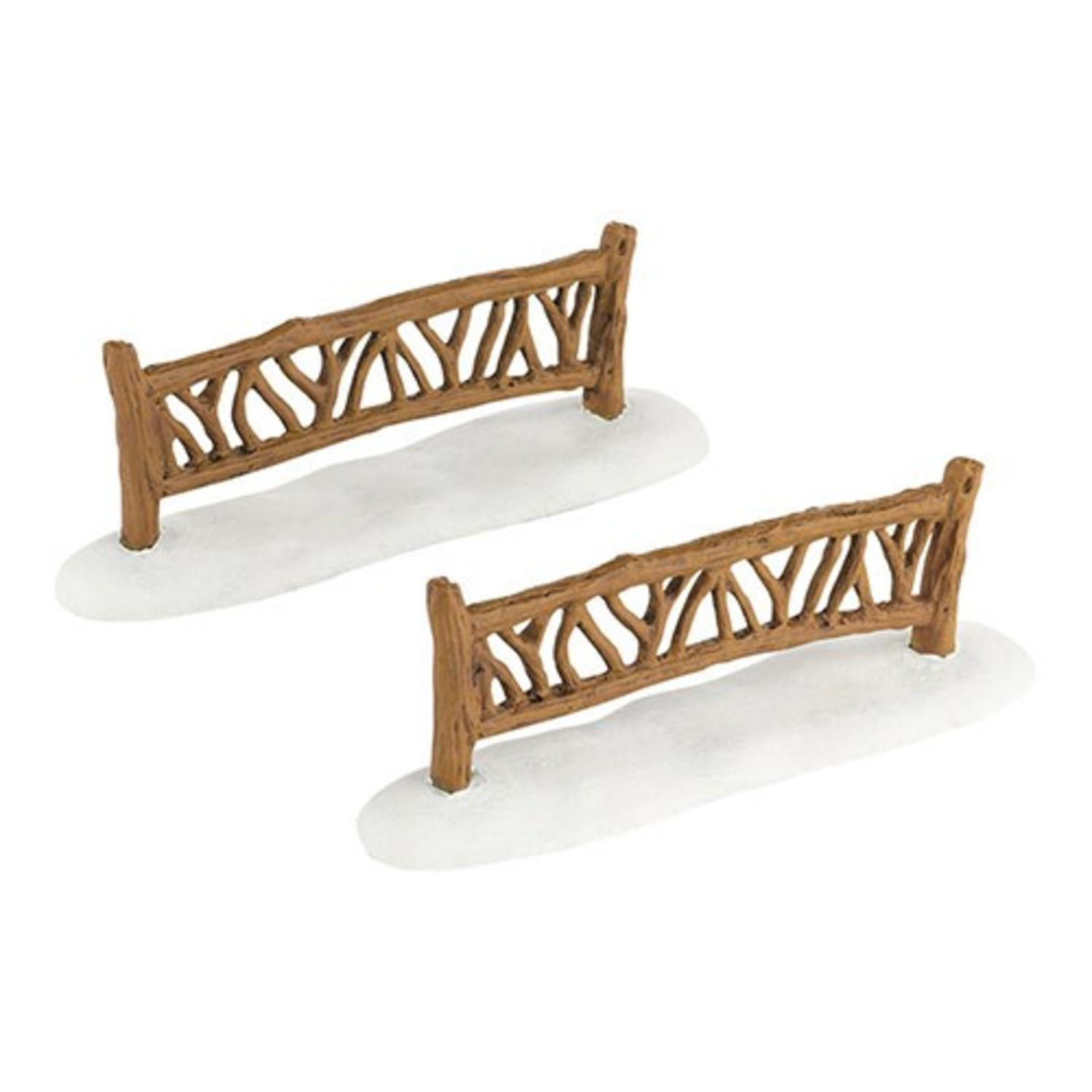"Département 56 Snow Village ""Mon jardin Fence"" 2-Piece Accessory Set # 4033839"
