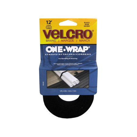 Velcro One Wrap Roll 3/4x12ft Black