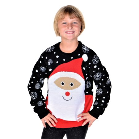 Girls Ugly Sweater (SoCal Look Girls Ugly Christmas Sweater Santa Clause Pullover)