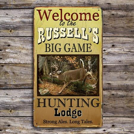 Personalized Big Game Hunting Metal Sign thumbnail